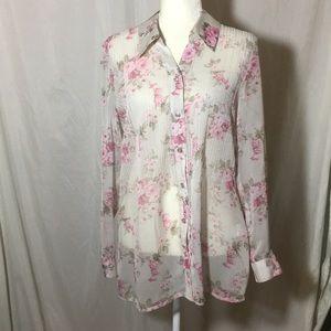 Lauren Conrad Long Sleeve Sheer Tunic